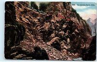 *1918 Las Animas Canon Colorado D&RG Railroad Train Vintage Postcard B63