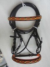 Genuine Leather Horse Cross Over Bitless Bridle with Reins BB- 02