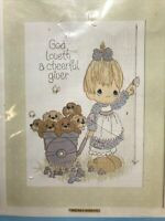 SILVER LINING From 1984-12 Mesh Canvas Precious Moments Paragon Needlecraft Longpoint Picture Kit