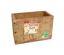 Timber / Wooden Box - Qantas Label - Rustic Vintage Industrial Old - Character