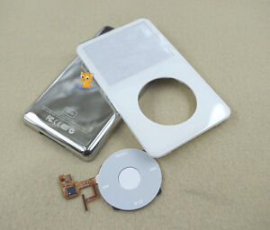 White Front Faceplate + Back Housing Case Clickwheel for iPod 5th Gen Video 30GB