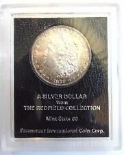 1879 S Morgan Silver Dollar Redfield Hoard Collection Pedigree Coin Rim Toned