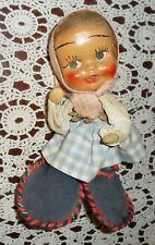 VERY UNIQUE COLLECTIBLE VINTAGE HAND MADE PINE CONE DOLL, MINNESOTA FOLK ART