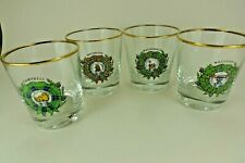 4 Vintage Whisky Tumbler - Scottish Clan Crests