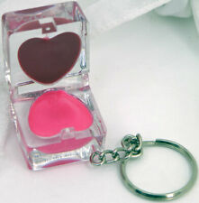 Hard Candy Key to My Heart Lip Gloss Duet Pixie .08 oz Chain Shiny Rose Pink Red