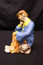 "Vintage Flambro Emmett Kelly Jr. ""Clown Prince of Pantomime"" Hobo Clown Figurine"
