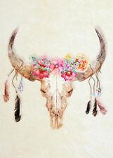 COW SKULL WALL ART * QUALITY CANVAS PRINT
