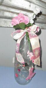 """Handmade Decorative Glass LED Lighted Wine Bottle """" Dance Ballerina, Dance"""""""