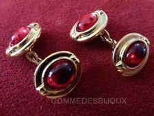 """Boutons de Manchette """"Ovale"""" Rouge Chemise Cufflinks - Bijoux pur Collection"""