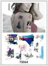 Frozen Temporary Tattoo Sticker DIY Keep 3-5 days Waterproof 14x9cm TS064