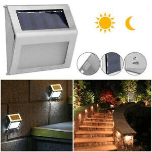 1/4/6Pcs LED Solar Power Indoor Outdoor Step Light Garden Security Flood Lamp