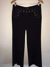 "David Bitton Buffalo Ladies Trousers 32"" Waist Button Detail <R5725"