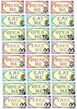 Alice In Wonderland Cupcake Toppers Edible Wafer Paper BUY 2 GET 3RD FREE