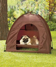 Dog Cat Camping Gear Set with Pet Tent and Outdoor Bed Large Foldable Doghouse