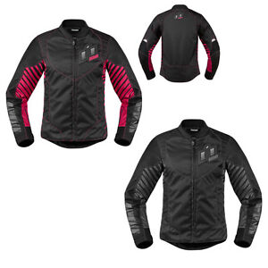 *SHIPS SAME DAY* ICON Womens WIREFORM Motorcycle Jacket (Black or Pink)
