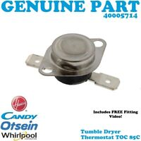 CANDY CSV V9LG-80 CV1 16/1-SY Tumble Dryer Thermal Fuse thermostat 85c