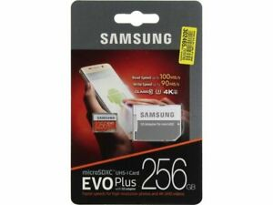 Mirco SD Card Samsung 256GB EVO Plus Class 10 UHS-I microSDXC U3 with Adapter