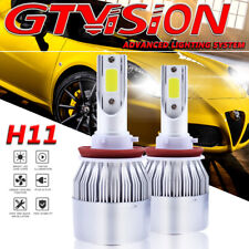 Pair 1300W H11 H9 H8 LED Headlight Low Beam Fog Light 195000LM 6000K Xenon White