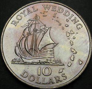 EAST CARIBBEAN TERRITORY 10 Dollars 1981 - Royal Wedding - aUNC - 1089 ¤