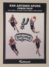 "Spurs Power Pack SMALL AD PANEL SIGN 6"" x 4"" NBA Graphics SPURS Tim Duncan Kawhi"