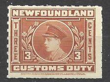 CANADA  Van Dam NFC 2 Newfoundland Customs Duty -  Revenue Stamp - Uncancel