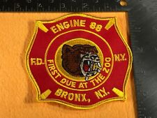 B1-88 NEW YORK FIRE DEPARTMENT PATCH - ENGINE 88 - BRONX - FIRST DUE AT THE ZOO