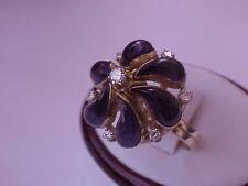 Art Deco 18k Yellow Gold Ring:1.00ct Diamonds & Amethyst Ring Amazing!!!
