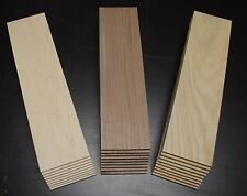 "9 WALNUT 9 CHERRY 9 MAPLE THIN BOARDS LUMBER WOOD 1/4"" x 3-1/2"" x 12-1/2"""