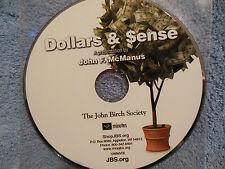 Dollars & Sense (Money & Inflation) by John F. McManus (DVD) JBS 42m. NEW