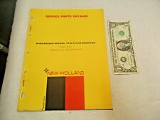 1972 New Holland Wisconsin Model TFD & THD Engines Service Parts Catalog - NR