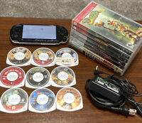 Huge PSP Lot - 3001 Console , 11 GAMES & 5 MOVIES Memory Card , CHARGER