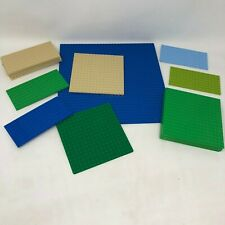 Lego Platforms Mixed Lot Of 15 Plates Blue Green Beige 32x32 16x16 16x8 Dots