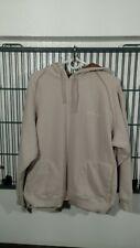 Columbia Hoodie Drawstring Pullover Sweatshirt Embroidered Beige EUC ~Men's XL ~
