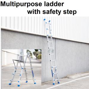 Multi Purpose Ladder with Platform Aluminium Lightweight 150KG Foldable Folding