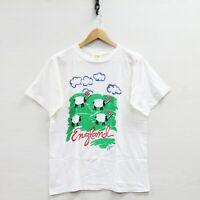 Vintage 1986 England T-Shirt Size Medium 80s Sheep Flags
