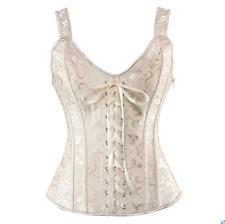 Gothic Lady Jacquard Lace Up Corset Steampunk Waist Shapewear Bustier Vest Sbox4