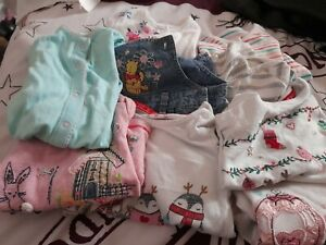 Girls Clothes Bundle Of 9 Ages 0-3 Months To 6-9 Months