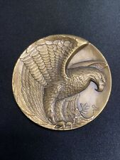 Vintage 1980s Olympics Calendar Medallion by Northrup King with Wood Stand Winter Olympics Dreamer of Dreams Calendar