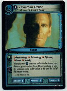 STAR TREK CCG 2E DANGEROUS MISSIONS, FOIL CARD 9R15 JONATHAN ARCHER