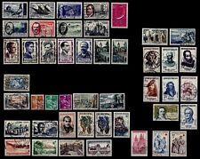 L'ANNÉE 1957 sauf Grands Hommes, Oblitérés = Cote 45 € / Lot Timbres France