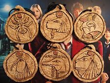 House of Anubis Replica of All 6 Amulets from Season 2 with Storage Case