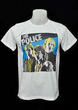 White crew t-shirt The Police indy punk rock cotton CL tee size S