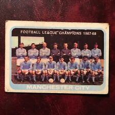 1968/69 A&BC Footballer Set MANCHESTER CITY TEAM #55 SERIES TWO CHECKLIST