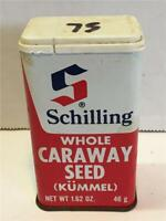 VTG Shillling Whole Carraway Seed Empty Metal Tin Spice Container
