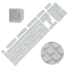 Backlit Double Shot Color Keycaps Cherry MX Mechanical Keyboard Themes White 104