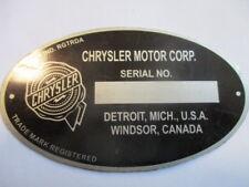 Typenschild Dodge Fargo Plymouth de Soto id-plate Schild US Oldtimer s48