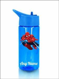 Spiderman  Personalised bottle childrens kids Pink or blue