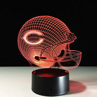 Chicago Bears Collectible NFL LED Light Lamp Home Decor Gift Jay Cutler