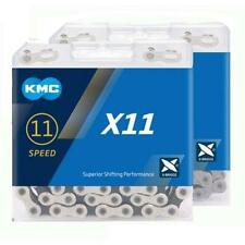 KMC X11 11 Speed Chain 114 Links In Silver/Black With Missing Link