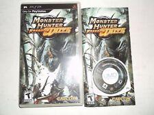 Monster Hunter Freedom Unite (Sony PSP, 2009) COMPLETE w/ Manual